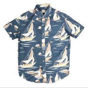 J Crew Sea Short Sleeve Button Down Shirt